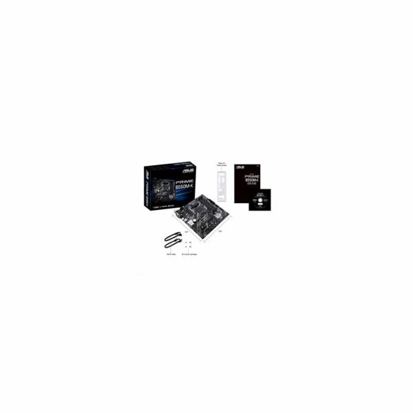 ASUS MB Sc AM4 PRIME B550M-K, AMD B550, 4xDDR4, 1xHDMI, 1xDVI, 1xVGA, mATX