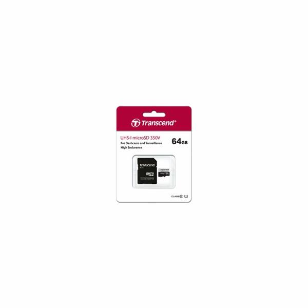Transcend microSDXC 350V 64GB Class 10 UHS-I U1