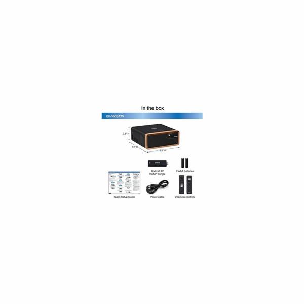 EPSON projektor EF-100B Android TV Edition, 16:10, HD Ready, 2.500.000:1, HDMI, USB, Bluetooth, REPRO 5W