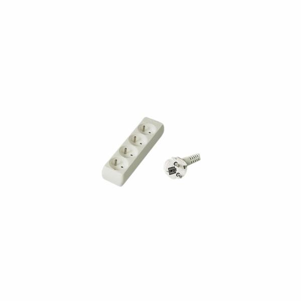 PREMIUMCORD Prodlužovací přívod 230V 2m, 4 zásuvky, bílá