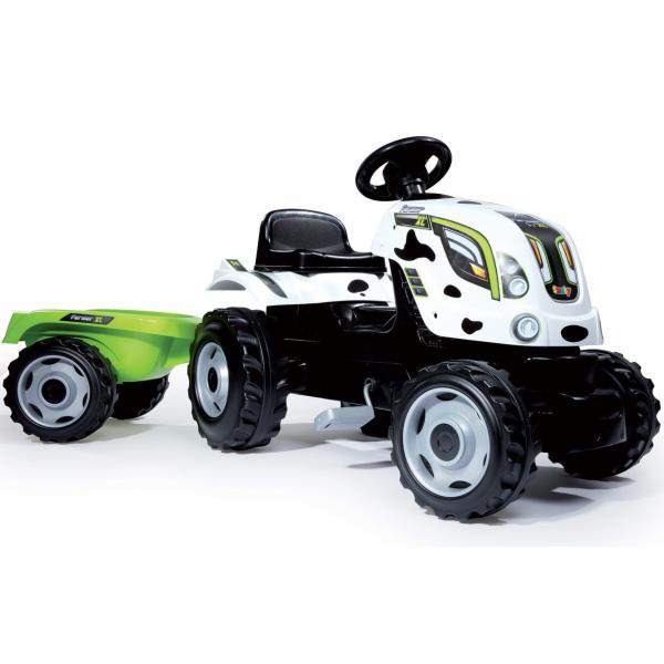 SMOBY 33352 Traktor šlapací s prívesom kravička 136*56*45 cm