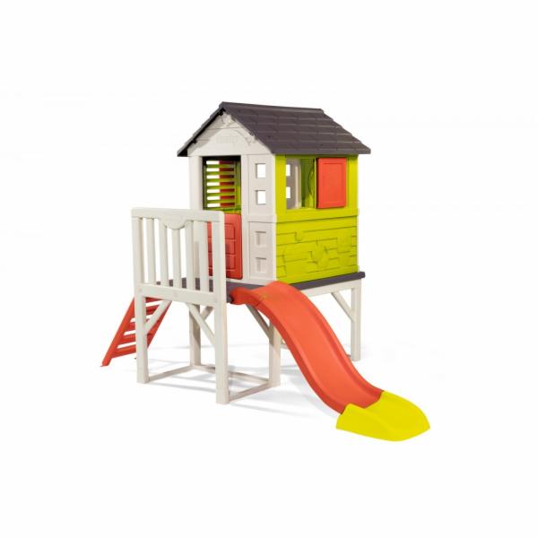 Smoby dětský domeček na pilířích se skluzavkou