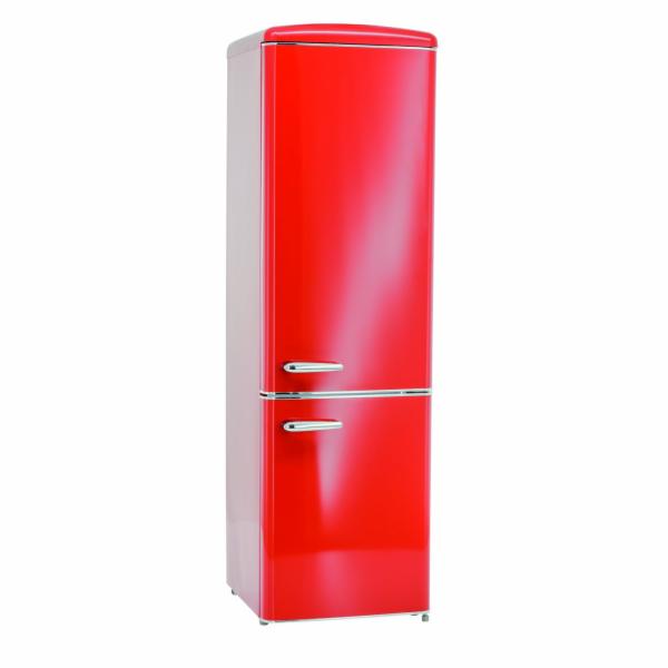 Exquisit RKGC 250/70-16 A++ Rot retro kombinovaná chladnička červená
