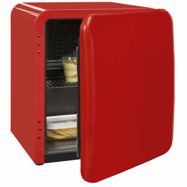 Exquisit RKB 05-14 A+Rot retro mini chladnička