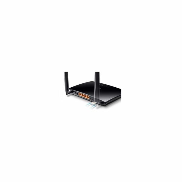 Modem TP-Link TL-MR150 LTE s WiFi routerem, 3x LAN, 1x WAN, 1x slot SIM, 300Mbps 2,4