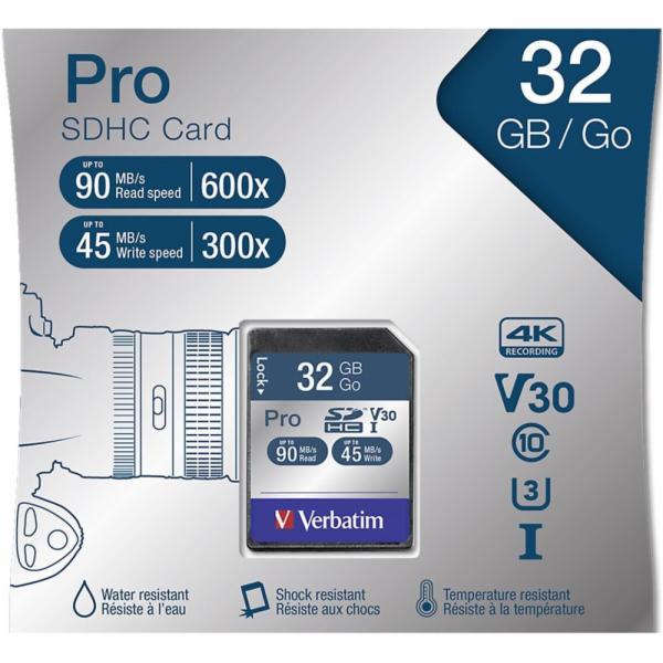 Verbatim SDHC karta Pro 32GB Class 10 UHS-I