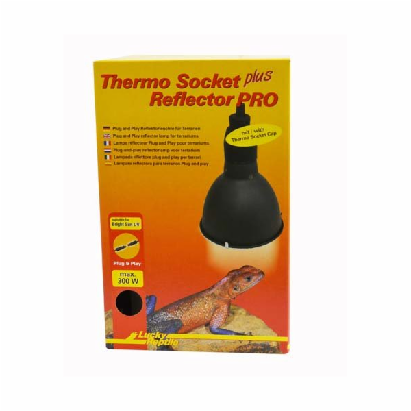 "Lucky Reptile Thermo Socket plus Reflector ""Plug and Play"" Velký s konektorem V.25 x o14 cm"