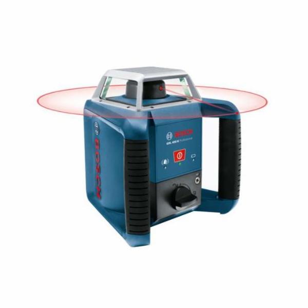 Laser rotační Bosch GRL400H Professional+přijímač LR 1+nivelační lať GR 240+stativ BT 170 HD