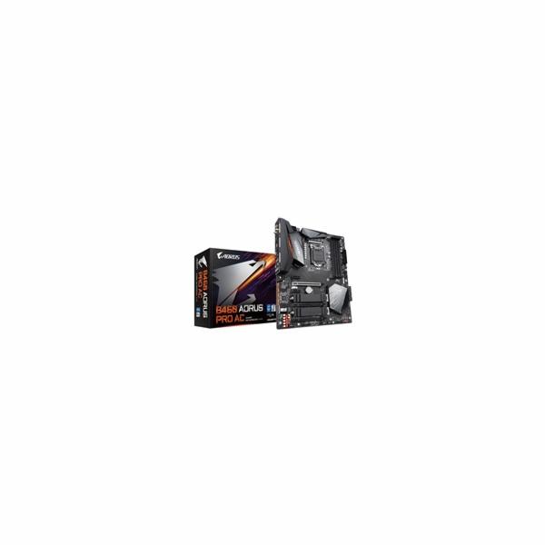 GIGABYTE MB Sc LGA1200 B460 AORUS PRO AC, Intel B460, 4xDDR4, VGA, WI-FI