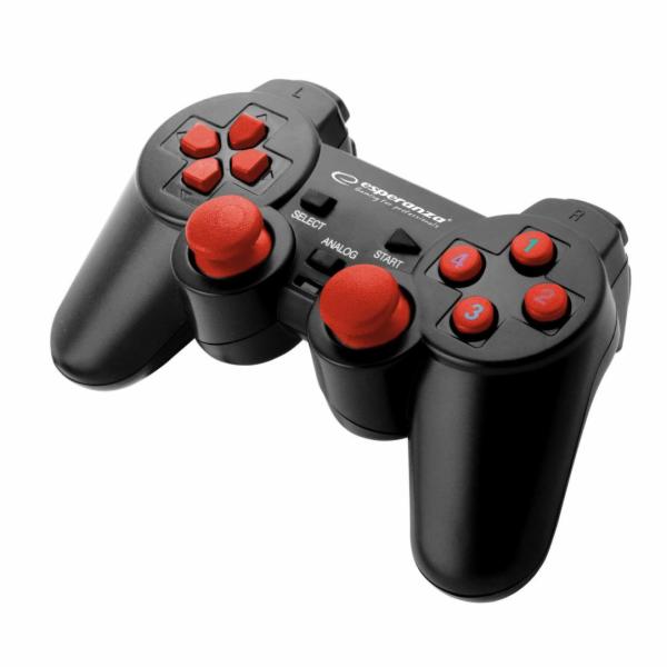 Esperanza Warrior EGG102R (černá, červená) herní ovladač