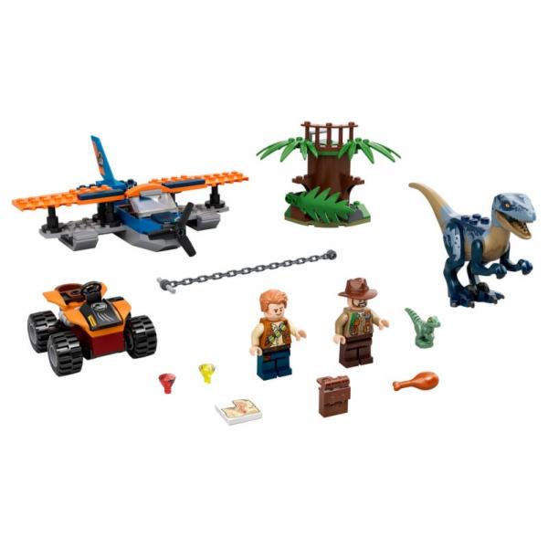 75942 Jurassic World Velociraptor: Rettungsmission mit dem Doppeldecker, Konstruktionsspielzeug