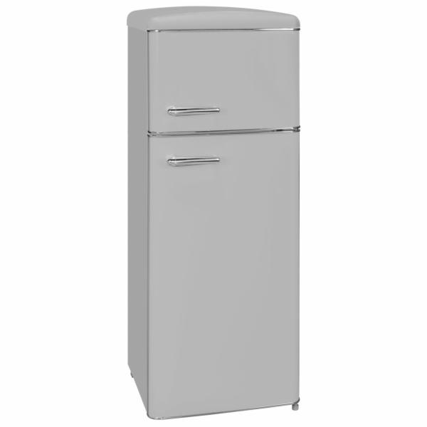 Exquisit RKGC 270/45-16 A++ GRAU retro kombinovaná chladnička šedá