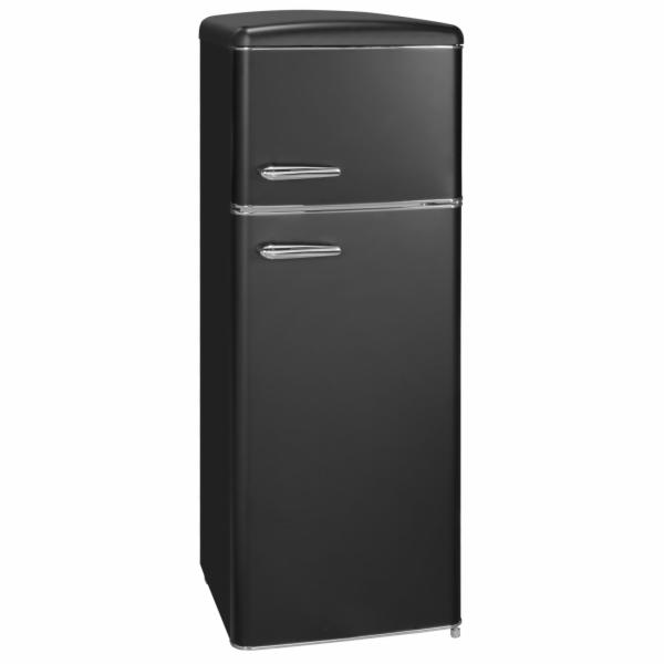 Exquisit RKGC 270/45-16 A++ MS retro kombinovaná chladnička matně černá