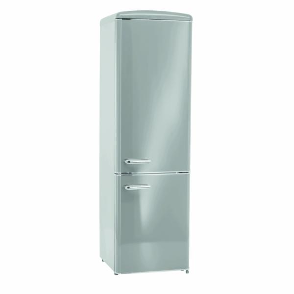 Exquisit RKGC 250/70-16 A++ GRAU retro kombinovaná chladnička šedá