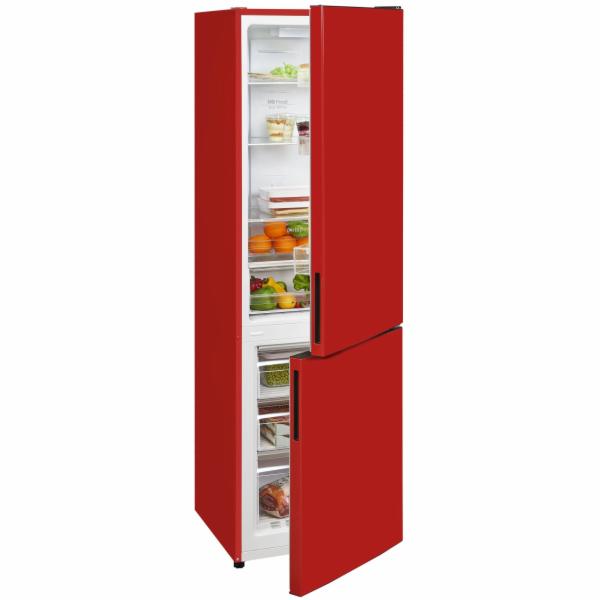 Exquisit KGC 265/50-5 NFA++Rot kombinovaná chladnička červená