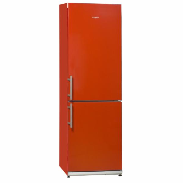 Exquisit KGC 34.2 A+++STG Rot kombinovaná chladnička červená