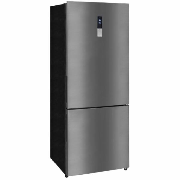 Exquisit KGC 440/110-5 NFA++sw kombinovaná chladnička tmavý nerez