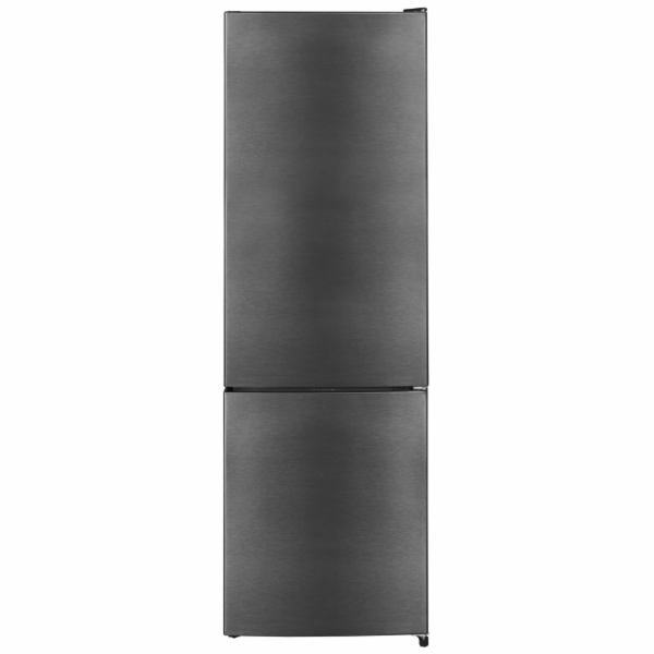 Exquisit KGC 260/75-5 LFEA++sw-Inoxlook kombinovaná chladnička tmavý nerez