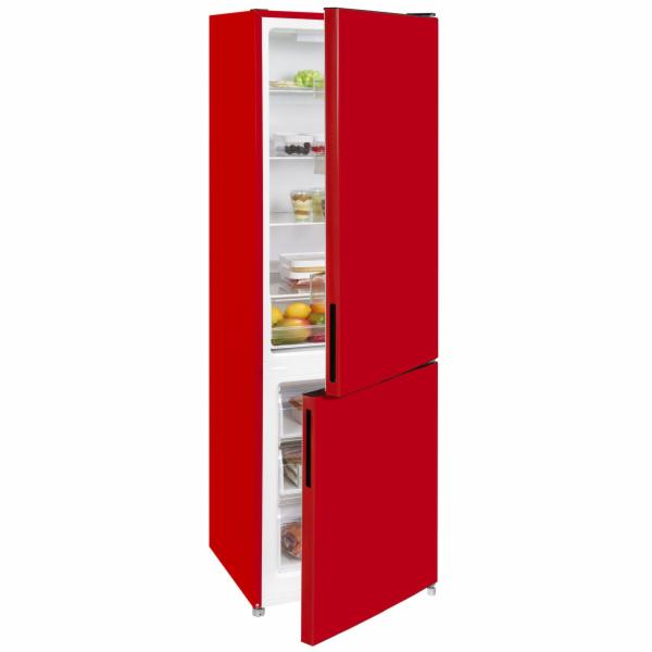 Exquisit KGC 260/75-5 LFEA++ Rot kombinovaná chladnička červená