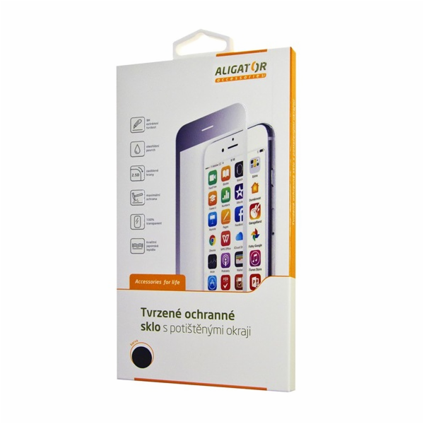 Aligator ochrana displeje Glass Print pro iPhone XR, černá