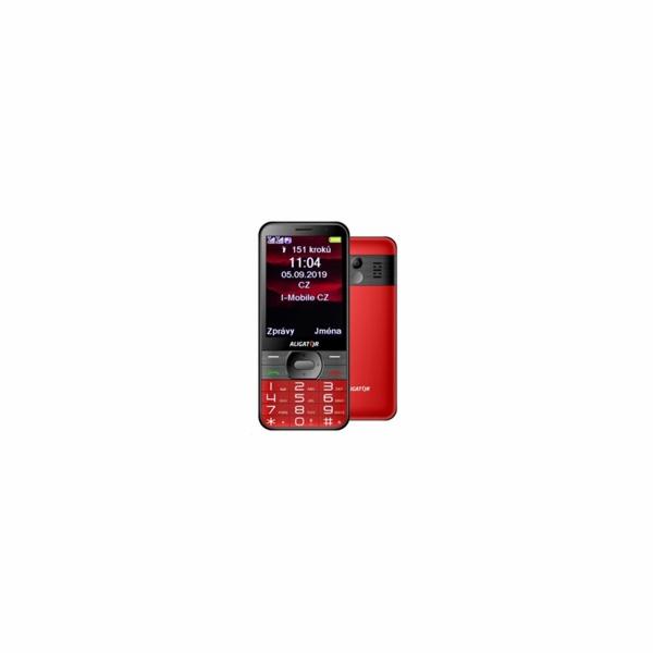Aligator A900 Senior, červená + nabíjecí stojánek