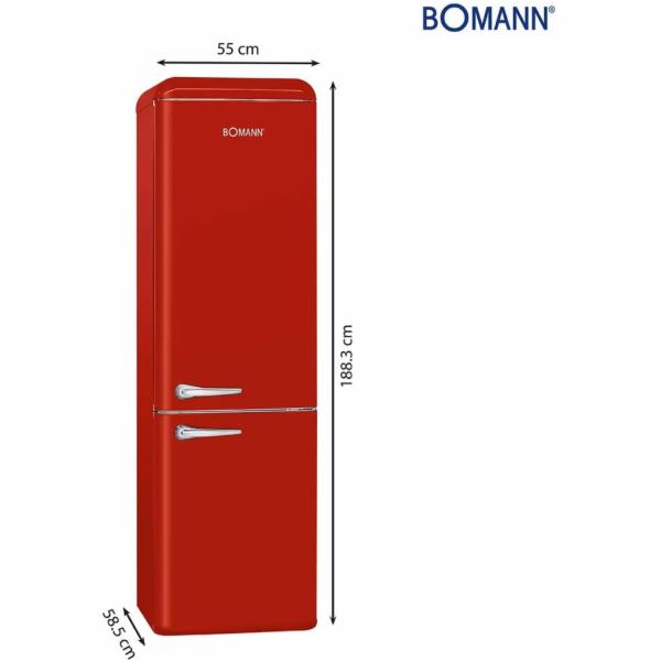 Bomann KGR 7328, kombinace lednice s mrazákem