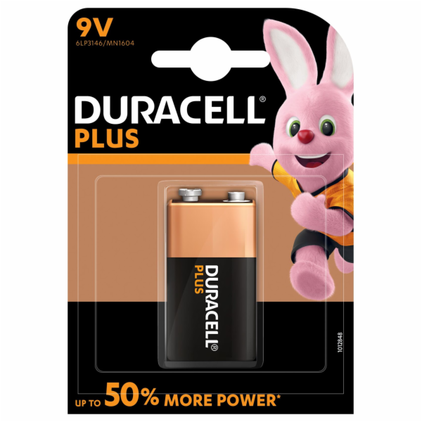 Duracell Plus Power 9V 1ks 5000394105485