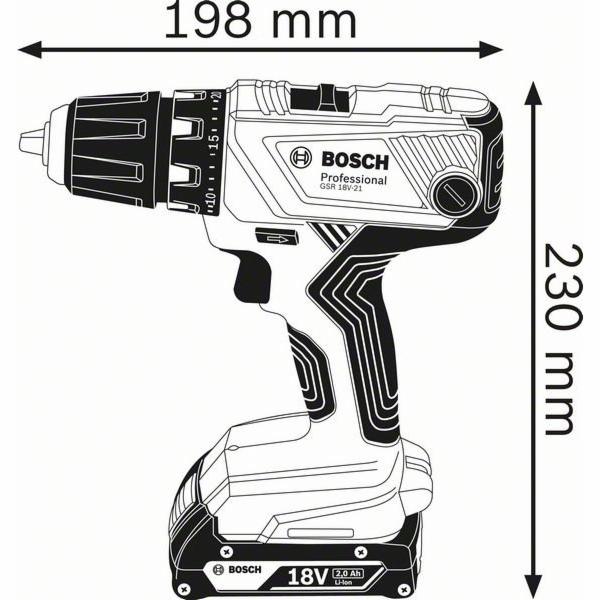 Bosch GSR 18V-21 aku vrtaci sroubovak