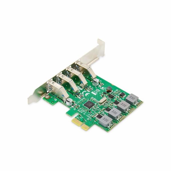 DIGITUS Přídavná karta USB PCI Express USB3.0, 4portový A / F, čipová sada: VL805, s vlastním napájením