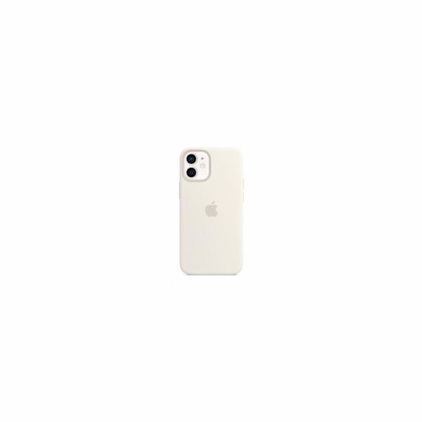 Apple iPhone 12 mini silikonový obal s MagSafe - bílý