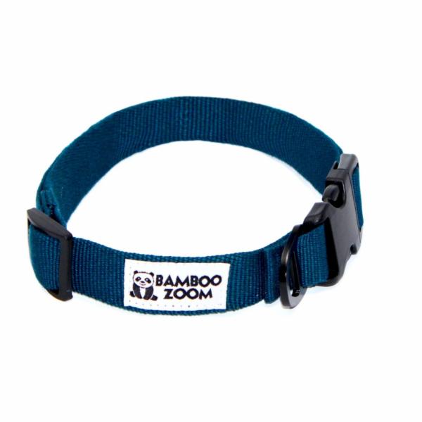 Bamboo Zoom Obojek pro psy modrý M