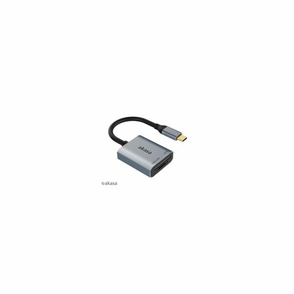 AKASA čtečka karet AK-CR-10BK (SD, microSD), externí, USB 3.2 Type-C