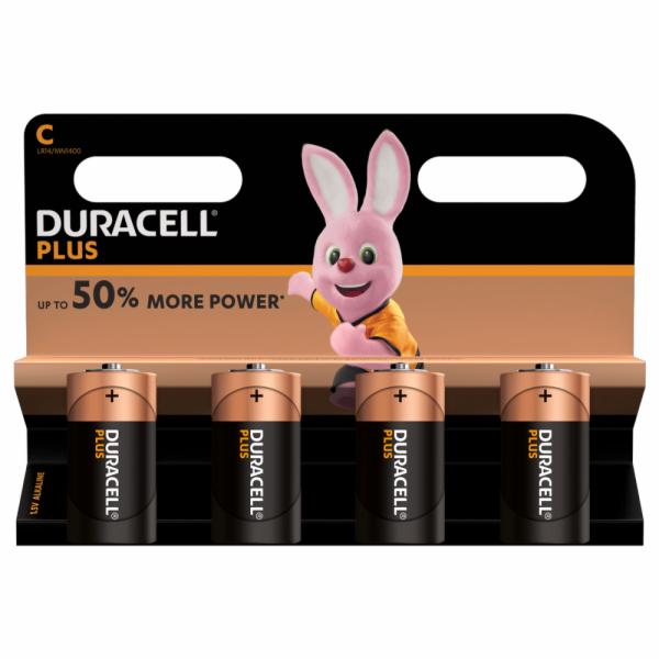 Duracell Plus LR14 baterie malé mono C alkalicko-manganová 1.5 V 4 ks