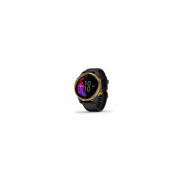 Garmin GPS sportovní hodinky Venu Gold/Black Band