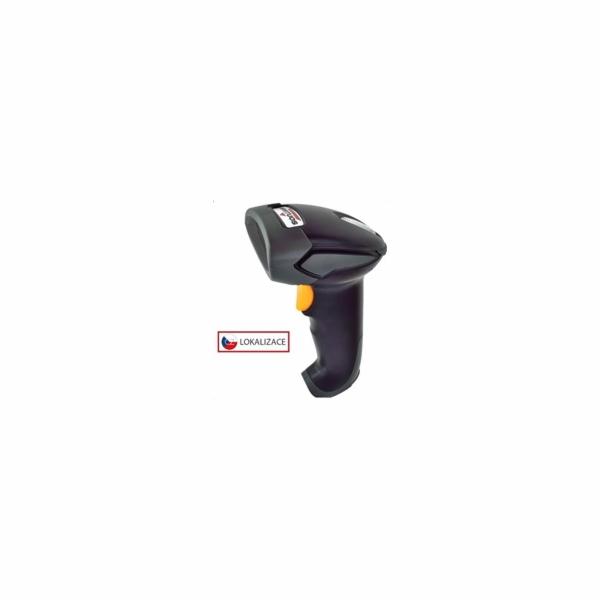 Virtuos CCD bezdrátová čtečka BT-310D, dlouhý dosah, Bluetooth (klávesnice/RS-232 emulace), černá