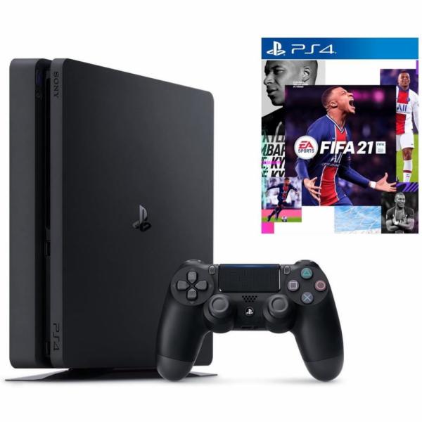 Sony Playstation 4 Slim 500GB black incl. FIFA 21