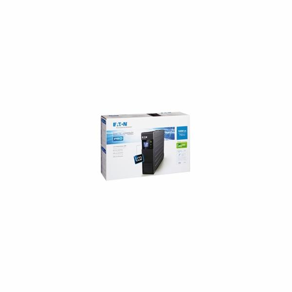 Eaton Ellipse PRO 1200 FR, UPS 1200VA, 8 zásuvek, LCD, české zásuvky
