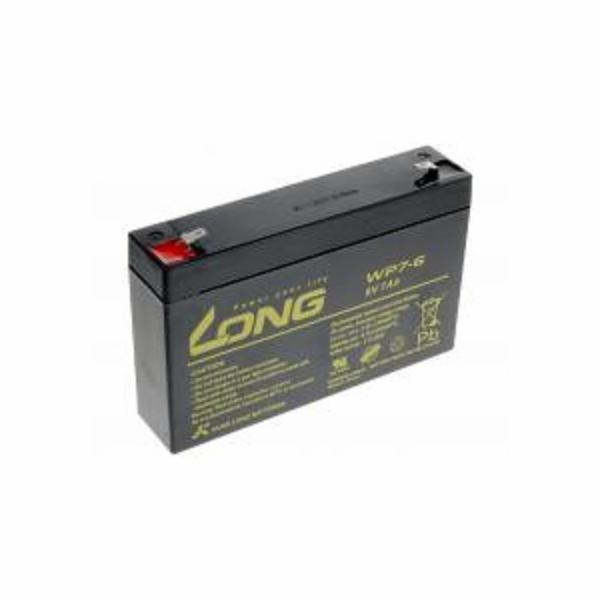 Long 6V 7Ah olověný akumulátor F1