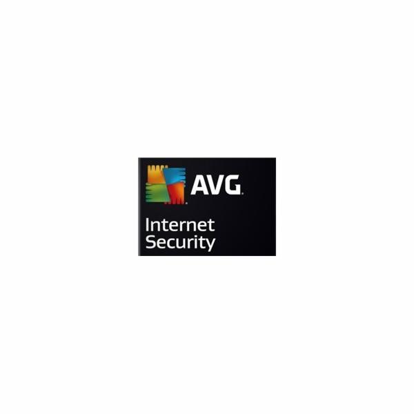 Software AVG Prodloužení Internet Security 1lic., 2 roky, elektronicky