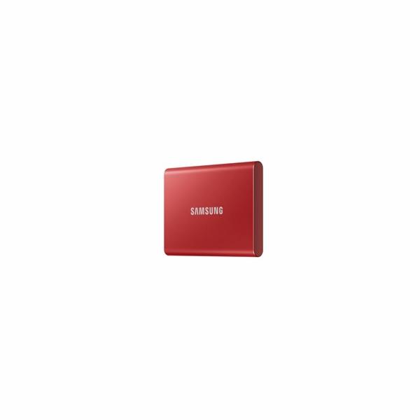 Samsung Externí SSD disk - 500 GB - červený