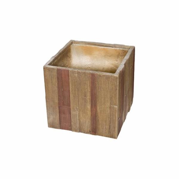 Květináč G21 Wood Cube 55 cm