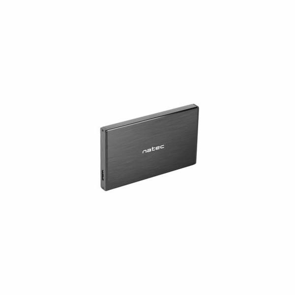 """Externí box pro HDD 2,5"""" USB 3.0 Natec Rhino Go, černý, hliníkové tělo"""