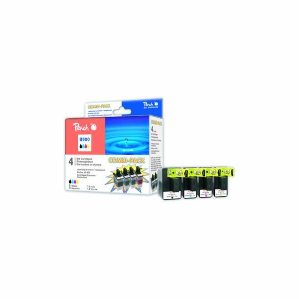 Inkoust Peach LC-900Bk,C,M,Y Combi Pack kompatibilní barevné+černý PI500-09 pro Brother DCP-110 (1x20ml, 3x13ml)