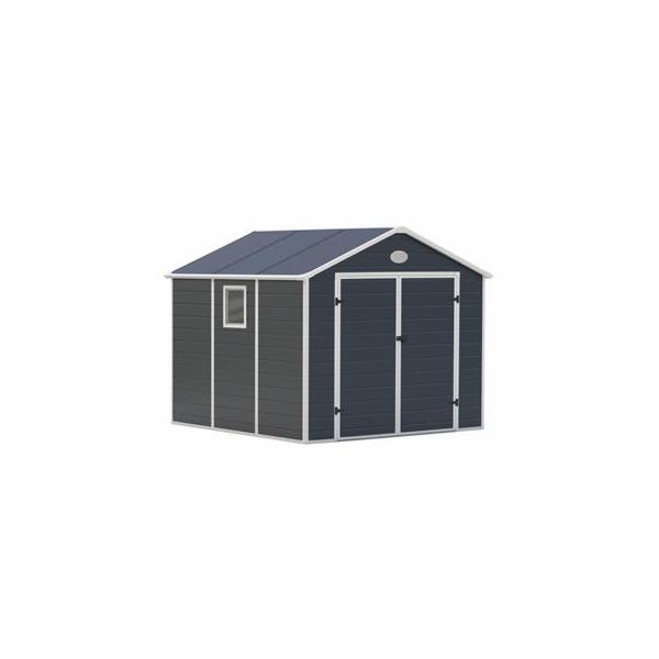Zahradní domek G21 PAH 670 - 241 x 278 cm, plastový, šedý