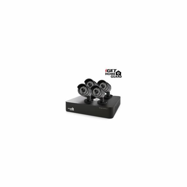 Kamerový set iGET HOMEGUARD HGDVK46704 DVR + 4 HD kamery, Win/Mac/Andr/iOS