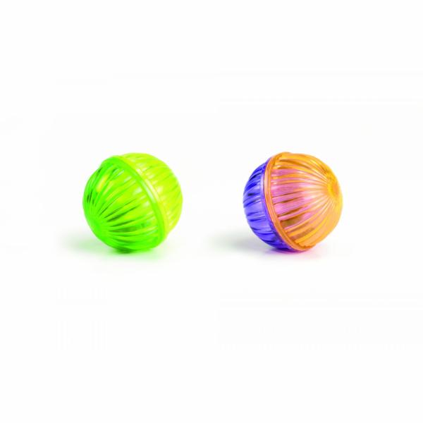 Beeztees Hračka pro kočky míček s korálky 4cm