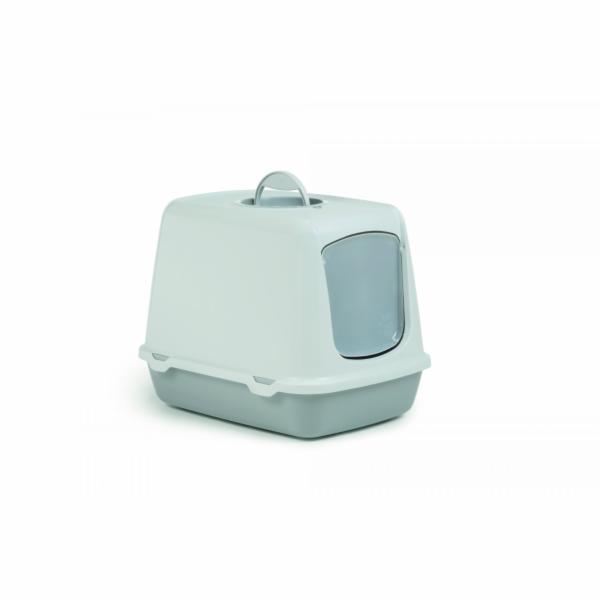 Beeztees Toaleta pro kočky OSCAR šedá/bílá 50X37X39cm
