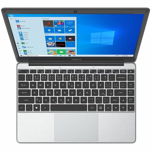 "Notebook Umax VisionBook 13Wr 13.3"" FHD IPS, N4020, 4GB, 64GB Flash + SSD M.2 slot, mini HDMI, W10 Pro, šedý"