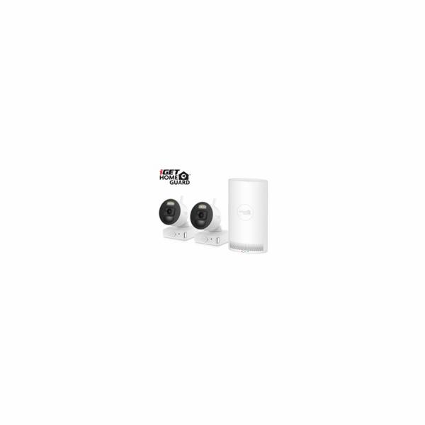 iGET HOMEGUARD HGNVK88002P - Kamerový systém s FullHD bateriovými kamerami, set 2 kamery + NVR rekordér