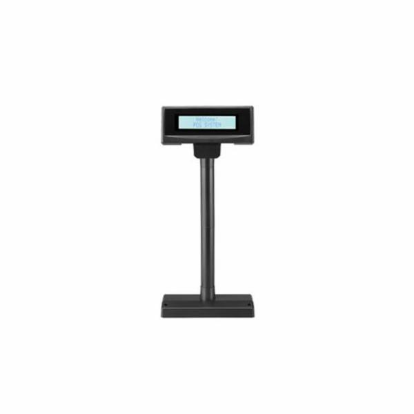 Displej FEC FL-2024MB LCD, 2x20, 14mm, černý, RS232